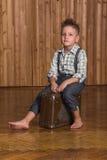 Boy model in the studio Royalty Free Stock Photos