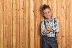 Boy model in the studio Royalty Free Stock Photography