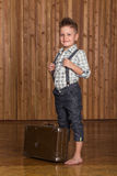 Boy model in the studio Royalty Free Stock Photo
