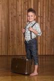 Boy model in the studio Royalty Free Stock Photo