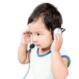 Boy Modern Headset stock image
