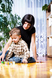Boy and mom Royalty Free Stock Photos