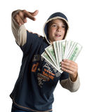 Boy with money Royalty Free Stock Images