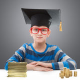 Boy with money Stock Image