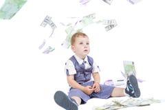 Boy with money Stock Photos