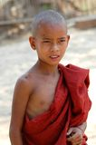 Boy Monk in Burma Stock Photos