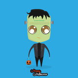 Boy With Monster Halloween Costume Isolated Stock Images