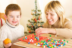 Boy and Mother Stock Images