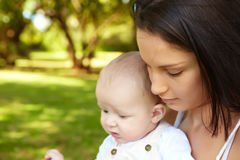 Boy and mother Royalty Free Stock Photography