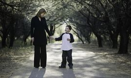 Boy with Mother royalty free stock photography