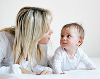 Boy and mother 5 Royalty Free Stock Images