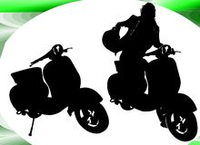 Boy Motor. Silhouettes about Motor Stock Images