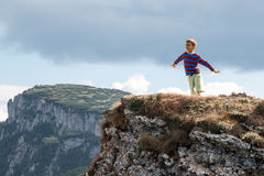 Boy on mountain Royalty Free Stock Photography