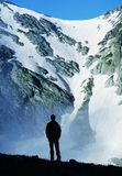 Boy in mountains royalty free stock image