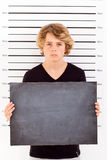 Boy mug shot Stock Photography