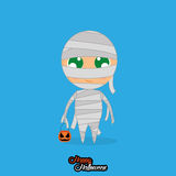 Boy With Mummy Halloween Costume Isolated Royalty Free Stock Image