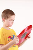 Boy and music Royalty Free Stock Images