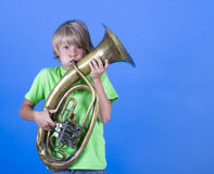 Boy Musician Royalty Free Stock Images