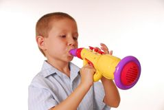 Boy Musician 4 stock images