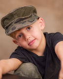 Boy N' Cap Royalty Free Stock Photography