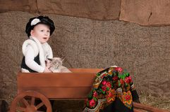 Boy in national costume Royalty Free Stock Image