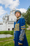 Boy in national russian suit  in Kremlin Rostov Great Stock Images