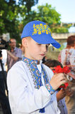 Boy in national Ukrainian clothes Royalty Free Stock Photo