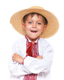 Boy in the national Ukrainian costume Stock Image
