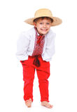 Boy in the national Ukrainian costume Stock Images