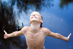 boy at nature Stock Photography
