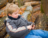 Boy in nature Stock Photos
