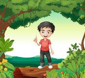 A boy in the nature Stock Photography