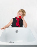 Boy near a bath Stock Photography