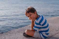 boy near the sea Stock Images