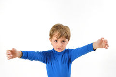 Boy need hug. Boy with open arms need hug Royalty Free Stock Images