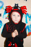 The boy in the new suit spider royalty free stock photography