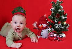 Boy and new year Royalty Free Stock Photography