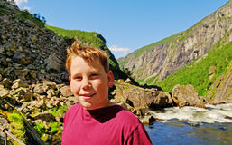 Boy in the Norway. Royalty Free Stock Photos