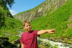 Boy in the Norway. Stock Image