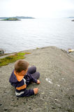 Boy in Norway Royalty Free Stock Photos