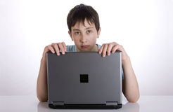 Boy with notebook Stock Photography