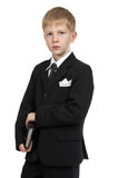 Boy with a notebook. Royalty Free Stock Photography