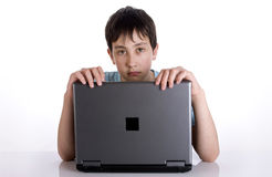 Boy with a notebook Royalty Free Stock Images