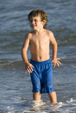 Boy in the ocean Royalty Free Stock Photography
