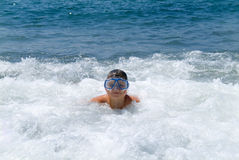 The boy at ocean Stock Image