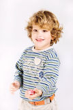 Boy offer his candy Stock Photo
