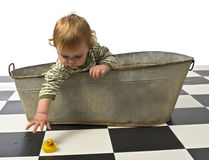 Boy in an old bath tab Royalty Free Stock Photos