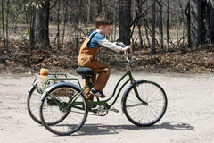Free Boy On Tricycle Stock Photography - 13684542
