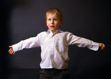 Boy With Open Arms Stock Photos