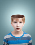 Boy with opened head Royalty Free Stock Image